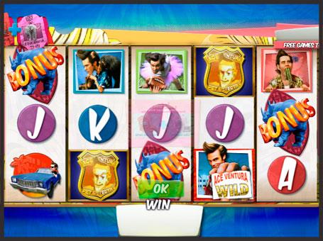 Бонуси і виграші в ігровому апараті Ace Ventura