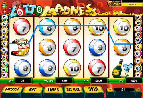 Виграшна послідовність з Wild в апараті Lotto Madness