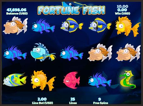 Символи в автоматі Fortune Fish