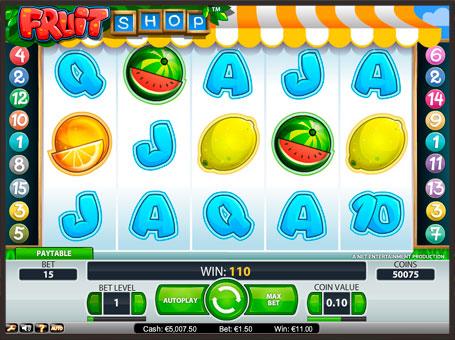 Символи ігрового автомата Fruit Shop