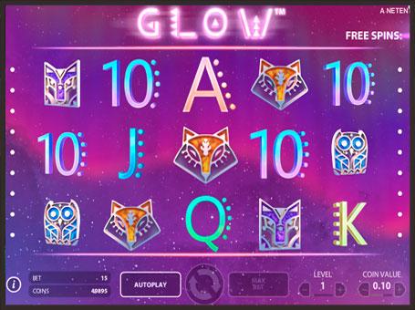 Фріспіни в онлайн слоті Glow