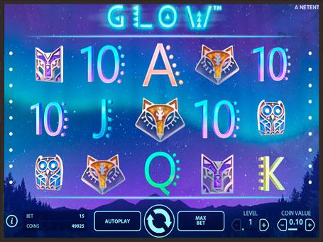 Символи ігрового апарату Glow