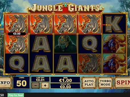 Виграшна комбінація на лінії в автоматі Jungle Giants