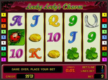 Символи ігрового автомата Lucky Lady's Charm