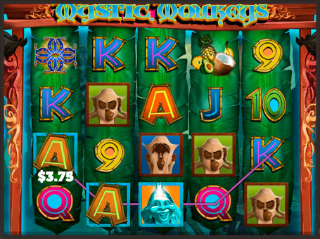 Виграшна комбінація на автоматі Mystic Monkeys