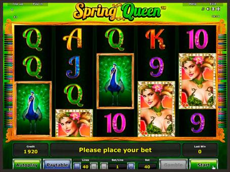 Виграшна комбінація в автоматі Queen of Spring