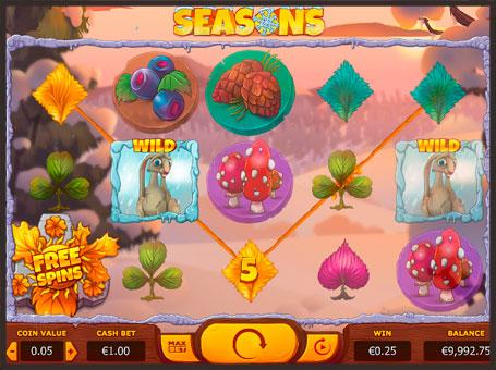 Комбінація з диких символів в грі Seasons