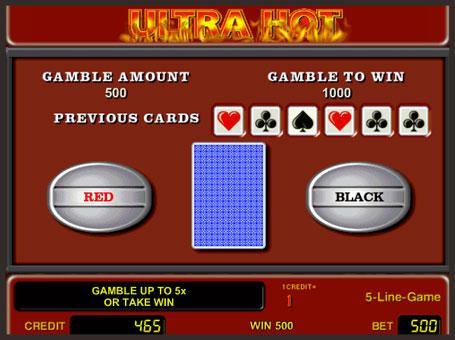 Ризик гра в слоті Ultra Hot