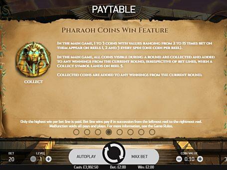 Ігровий бонус в Coins of Egypt онлайн
