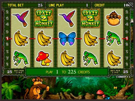 Виграш по першій лінії в ігровому автоматі Crazy Monkey 2