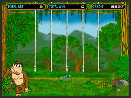 Бонус гра в онлайн апараті Crazy Monkey