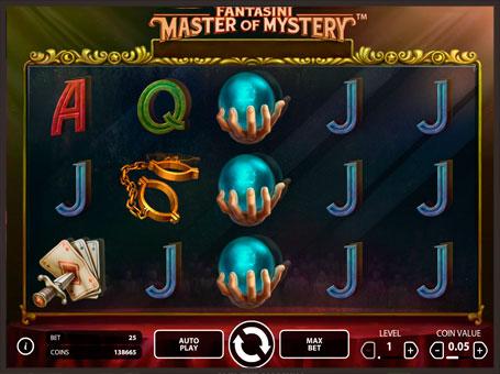 Символи ігрового автомата Fantasy: Master of Mystery