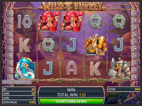 Барабани ігрового автомата Wild Turkey з дикими символами