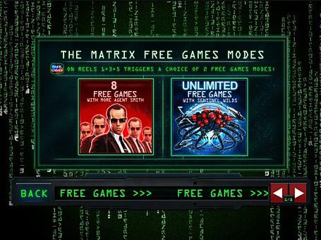 Фріспіни в грі Matrix