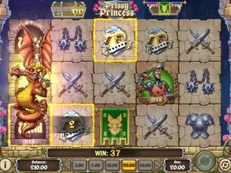 Комбінація з дикими символами в грі Prissy Princess