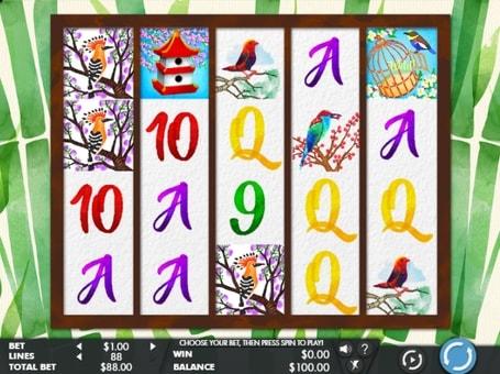 Символи ігрового апарату Birds and Blooms