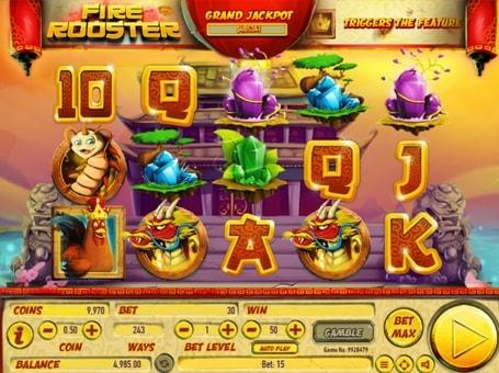 Символи ігрового автомата Fire Rooster