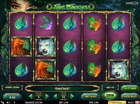 Символи ігрового онлайн автомата Jade Magician