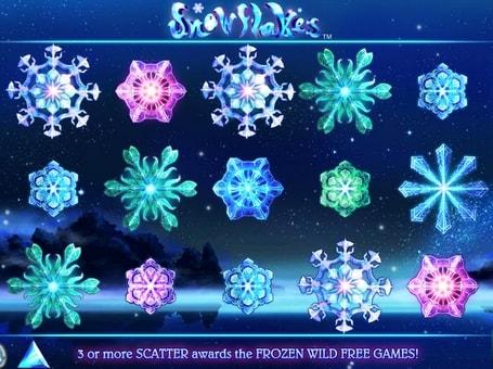 Виграшна комбінація в автоматі Snowflakes