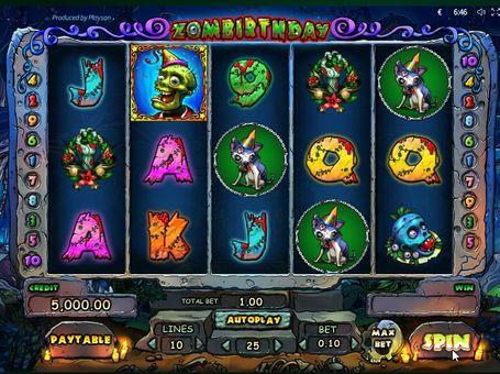 Фріспіни в ігровому автоматі Zombirthday