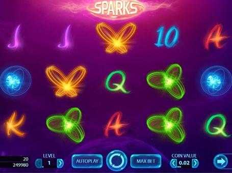 Символи в ігровому автоматі Sparks
