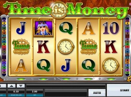 Комбінація символів в ігровому автоматі Time is Money
