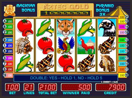 Символи в ігровому автоматі Aztec Gold