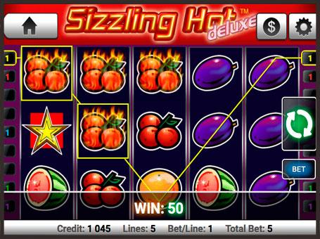 Виграш в автоматі Sizzling Hot Deluxe