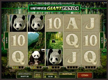 Символи ігрового апарату Untamed Giant Panda