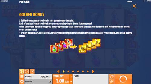 Отримання бонусів зі скаттером ігровому апараті Gold Lab