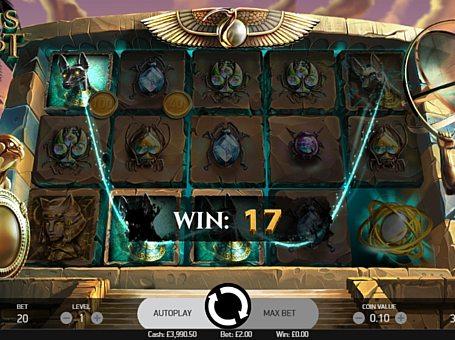 Призова комбінація з диким знаком в ігровому автоматі Coins of Egypt
