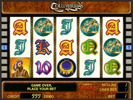 Символи ігрового автомата Columbus