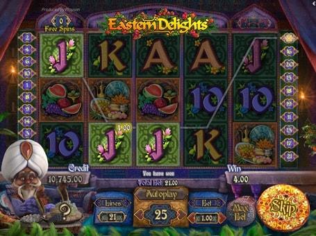 Призова комбінація в ігровому автоматі Eastern Delights
