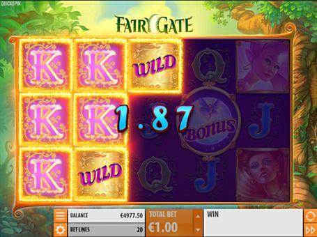Призова комбінація символів в ігровому автоматі Fairy Gate