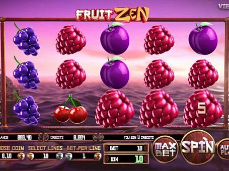 Призова комбінація на лінії в ігровому автоматі Fruit Zen