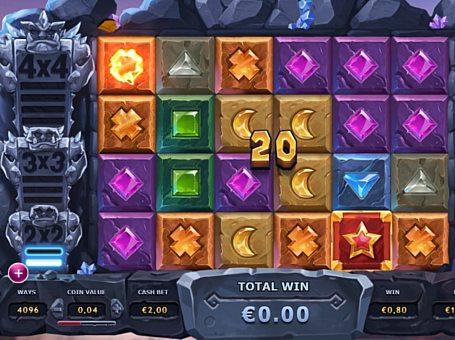 Призова комбінація символів в ігровому автоматі Gem Rocks