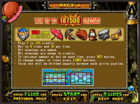 Правила для выигрыша в онлайн автомате Gnome