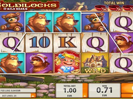 Призова комбінація на лінії в ігровому автоматі Goldilocks
