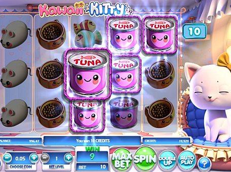 Призова комбінація символів в ігровому автоматі Kawaii Kitty