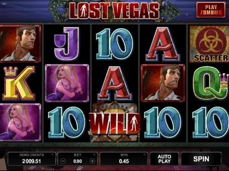 Дикий символ і скаттер в ігровому автоматі Lost Vegas