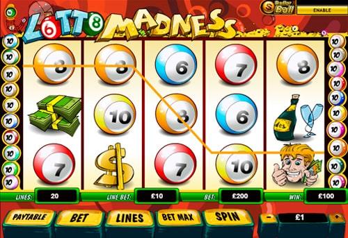 Призова комбінація символів в ігровому автоматі Lotto Madness