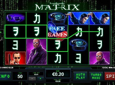 Призова комбінація символів в ігровому автоматі Matrix