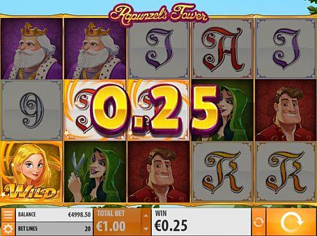 Призова комбінація символів в ігровому автоммате Rapunzel's Tower