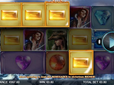 Призова комбінація символів в ігровому автоматі Renegades