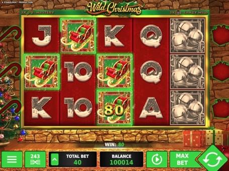 Призова комбінація на лінії в ігровому автоматі Wild Christmas