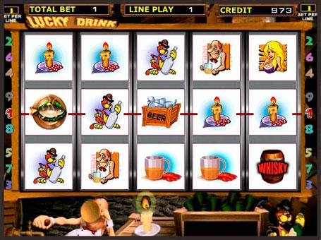 Виграшна комбінація в ігровому автоматі Lucky Drink