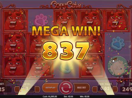 Великий виграш в онлайн грі Copy Cats