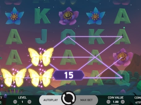 Комбінації на лініях в онлайн слоті Butterfly Staxx