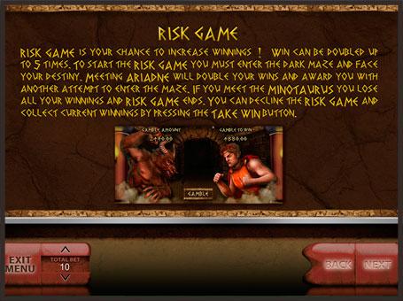 Правила ризик гри в автоматі Minotaurus
