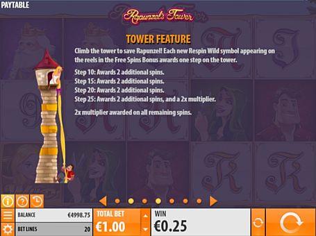 Респіни в Rapunzel's Tower онлайн